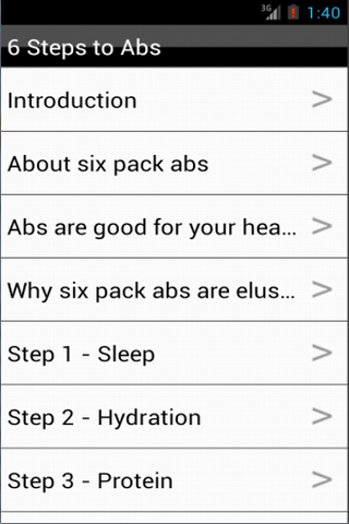 6 Steps to Six Pack Abs