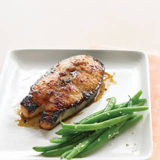 Soy-Glazed Salmon Steaks.