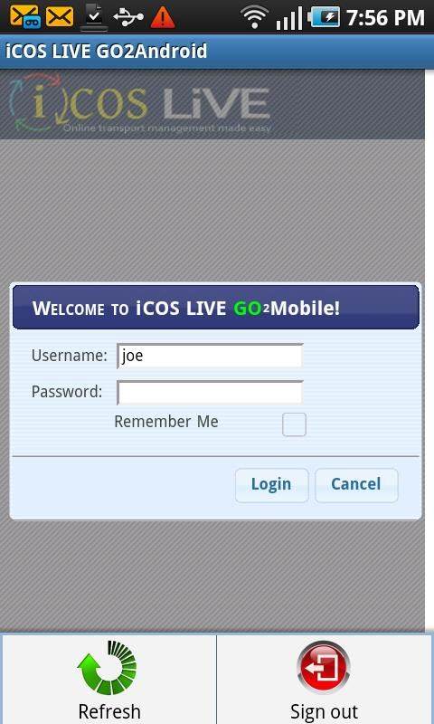 iCOS LIVE GO2Android- screenshot