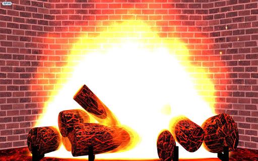 Yule Log Fake Fireplace