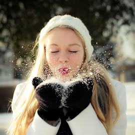 by Tricia Bartkey - Novices Only Portraits & People ( snow winter portrait )
