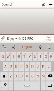 GO Keyboard ICS WHITE Orange- screenshot thumbnail