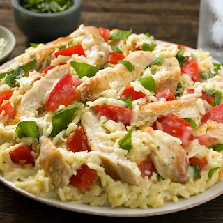 Creamy Bruschetta chicken.
