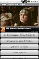 Screenshot of La Classe Americaine Sampler