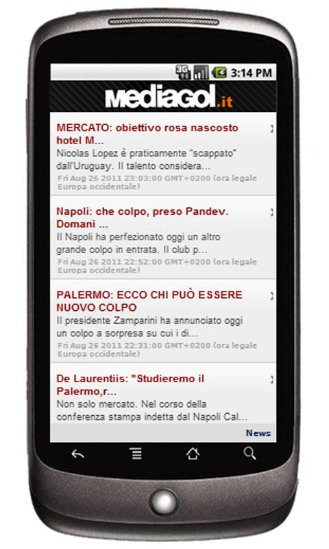 Mediagol Palermo News - screenshot