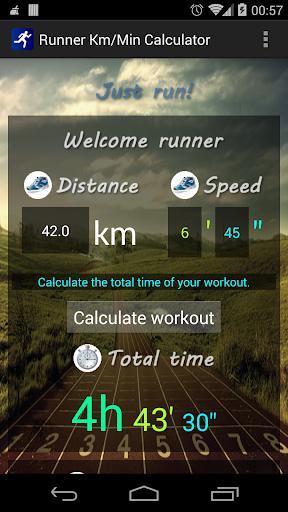 Runner Km Min Calculator