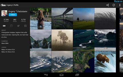 500px – Discover great photos Screenshot 5