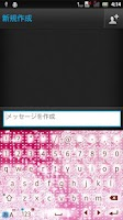 Screenshot of LacePink2 keyboard skin