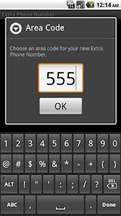 Extra Phone Number- screenshot thumbnail