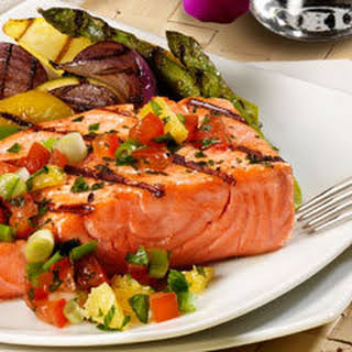 Grilled Salmon With Citrus Salsa.
