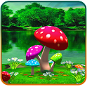 3D Mushroom Live Wallpaper New icon