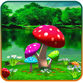 3D Mushroom Live Wallpaper New
