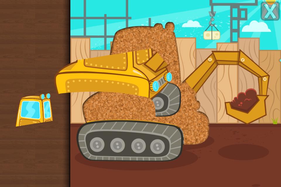 cars trucks puzzle for kids screenshot