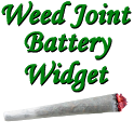 Weed Joint HD Battery Widget icon