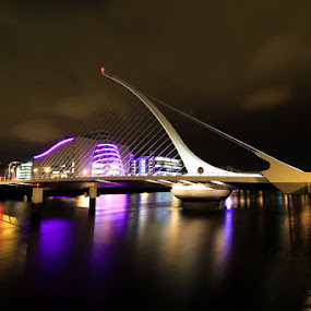 Samuel Beckett Bridge by Luca Libralato - Buildings & Architecture Bridges & Suspended Structures ( ireland, dublin, samuel beckett. bridge, liffey, bridge, city, night )
