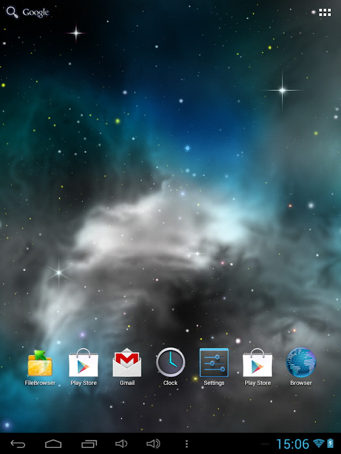 Galaxy 3D Parallax LWP Free - screenshot