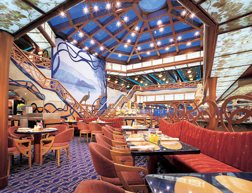 Carnival-Liberty-Emiles-Restaurant - Emile's Restaurant, a popular grand buffet with carving stations on Carnival Liberty, is open from 7 am to midnight.