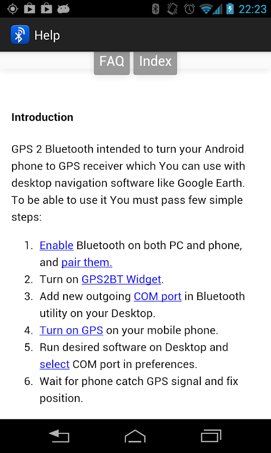 GPS 2 Bluetooth v.4 - screenshot