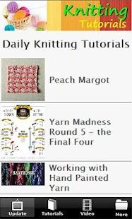 Knitting Tutorials FREE - screenshot thumbnail