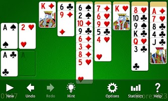 Screenshot of Yukon Solitaire