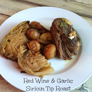 Red Wine and Garlic Sirloin Tip Roast Recipe