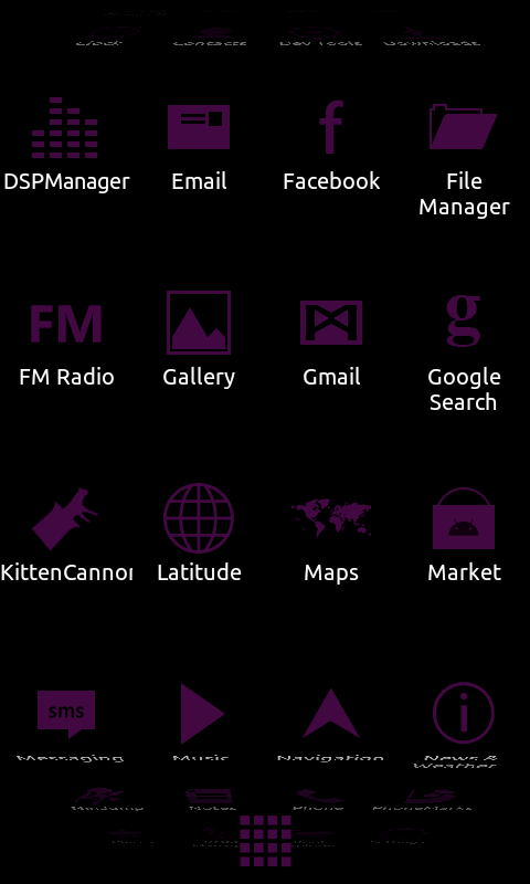 Minimalist_Purple - ADW Theme- screenshot