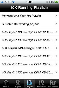 Running Playlist 1.2- screenshot thumbnail