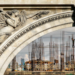 The Lady Blesses The Workers by Blue Bell Bantigue - Buildings & Architecture Architectural Detail