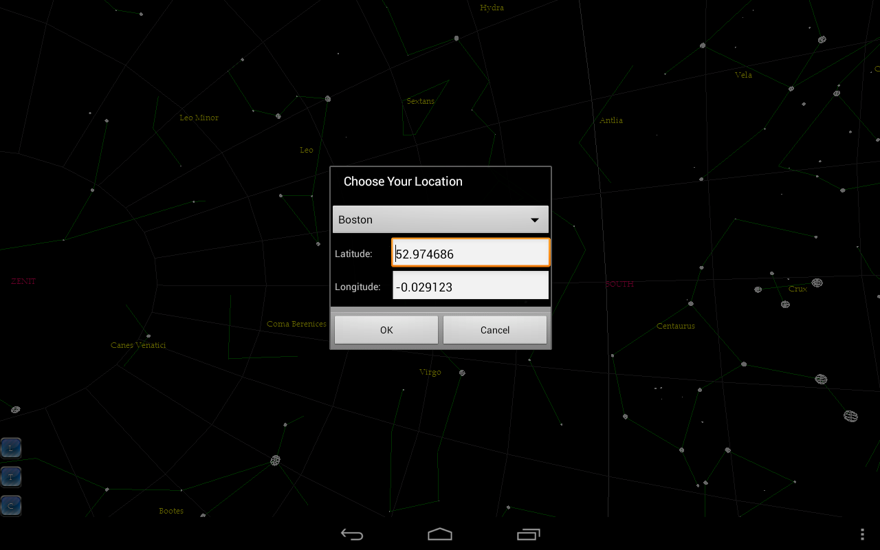 Star finder - screenshot