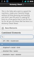 Screenshot of Alchemy Cheat Sheet 2
