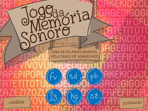 Jogo da Memória Sonoro