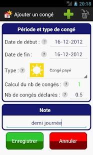 Gestion Congés RTT Vacances - screenshot thumbnail