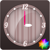 Stripes Clock Widget