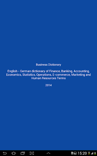 【免費書籍App】Business Dictionary Lite En De-APP點子