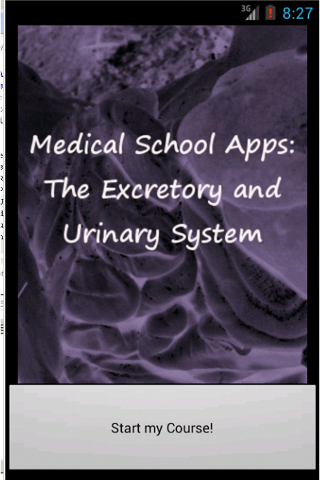 Medical School Apps: Excretory