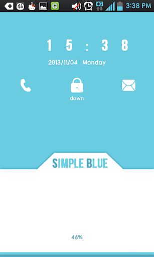 Simple Blue GO locker theme