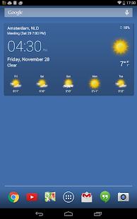 Transparent clock & weather - screenshot thumbnail