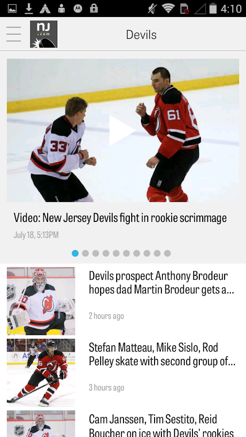 NJ.com: New Jersey Devils News- screenshot