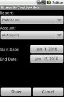 Screenshot of Balance My Checkbook Beta