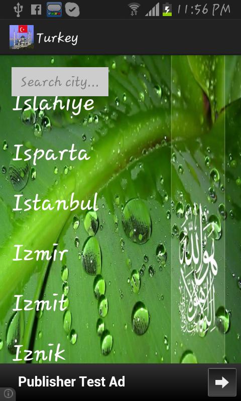 Turkey Prayer Timings -Islamic- screenshot