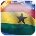 3D Ghana Flag Live Wallpaper