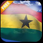 3D Ghana Flag Live Wallpaper icon