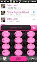 Screenshot of GO CONTACTS - Blk Glit Pink