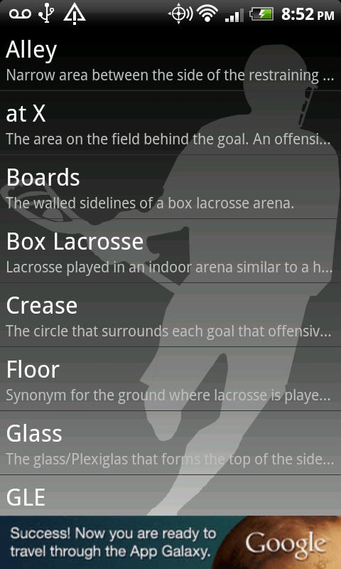 Lacrosse Dictionary - screenshot