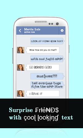 Cool Fonts for Whatsapp & SMS 2.0 screenshot 227822