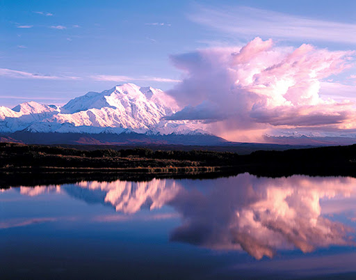 Wonder-Lake-Denali-Alaska - Wonder Lake is the best known lake in Denali National Park, Alaska.