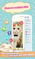 Screenshot of Cute Face&Words Box ThemeDECO+