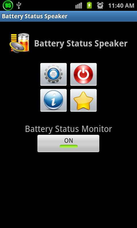 Battery Status Speaker - screenshot