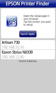 Epson Printer Finder - screenshot thumbnail