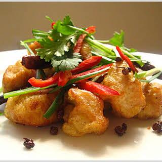 Szechuan Wok-fried Chicken.